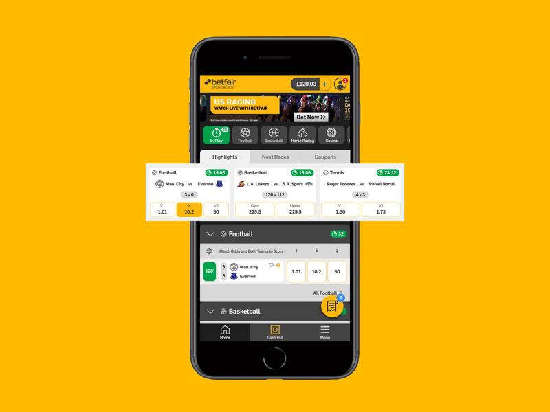 Betfair sports app